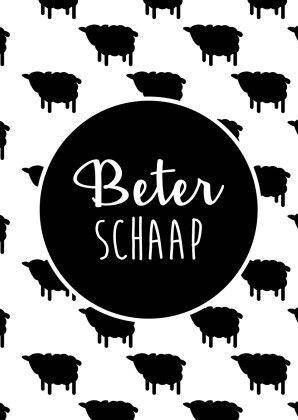 Wil je een arm schaapje beterschap wensen? Doe dat dan met deze geweldige beterschapskaart, verkrijgbaar bij #kaartje2go voor €1,89