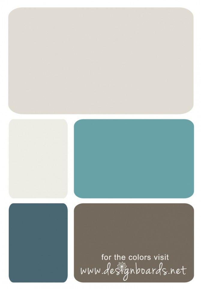 Pittsburg Paints: GrayPalamino-Gypsum-AquaBay-AzaleaLeaf-Granite