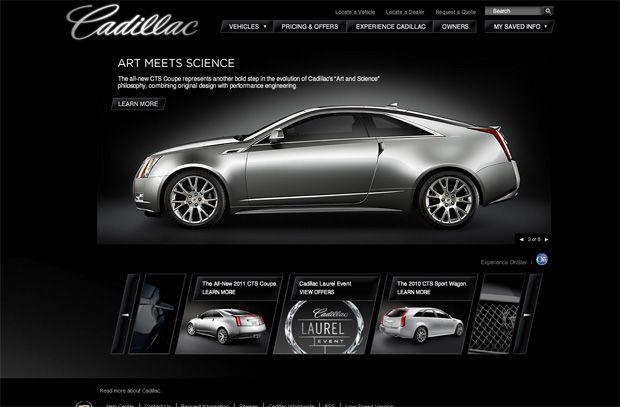 car web design - Cadillac