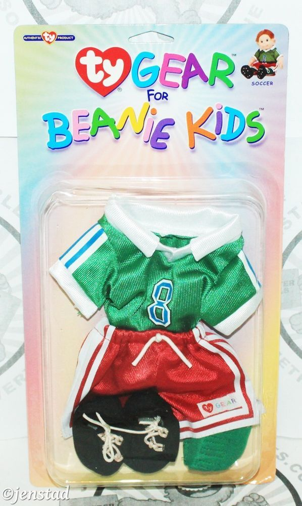 SOCCER TY GEAR DOLL PLUSH CLOTHING FOR BEANIE BABY BABIES KIDS CLOTHES NEW #Ty