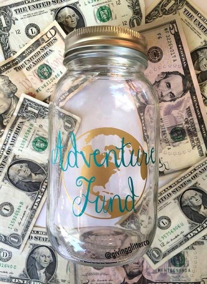 Adventure Fund // Mason Jar Bank (15.00 USD) by GivingGlitterCo