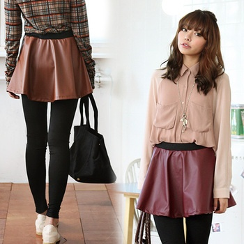 The coordinates are simple with one piece, too! Rubber design / fake leather mini-flared skirt leggings *3,591 easy cool & easy direction / as for the / waist that I am close together and am hard to get disheveled because it is a design- Shopping Japanese products from Japan