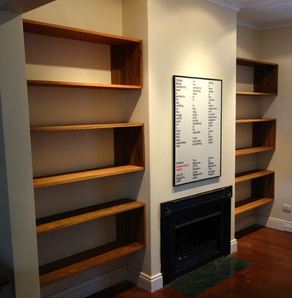 timber floating shelves - Google Search
