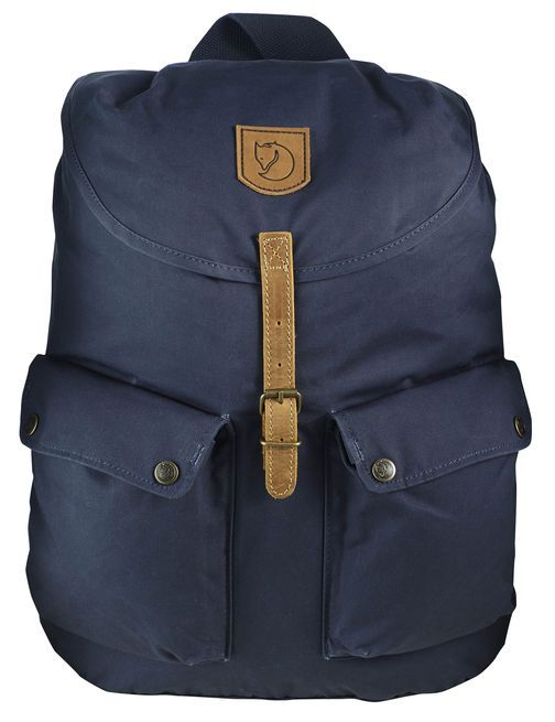 "It's impossible not to look sharp lugging books to class in this heavy-duty backpack from Fjällräven, the Swedish outfitter that gave us the Kånken pack. In addition to the two bellow pockets on the front, the Greenland features an internal ""safety pocket"" and a flat pocket with a padded bottom, ideal for a laptop. Courtesy of: Fjällräven"