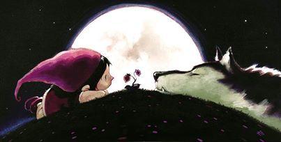 Massimiliano #Frezzato #illustration - Red Riding Hood & the Wolf