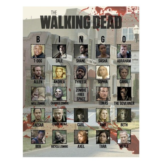 The Walking Dead Bingo from Birthdays, Bingo, Invites, & More! | The only bingo set out there for zombie fans!