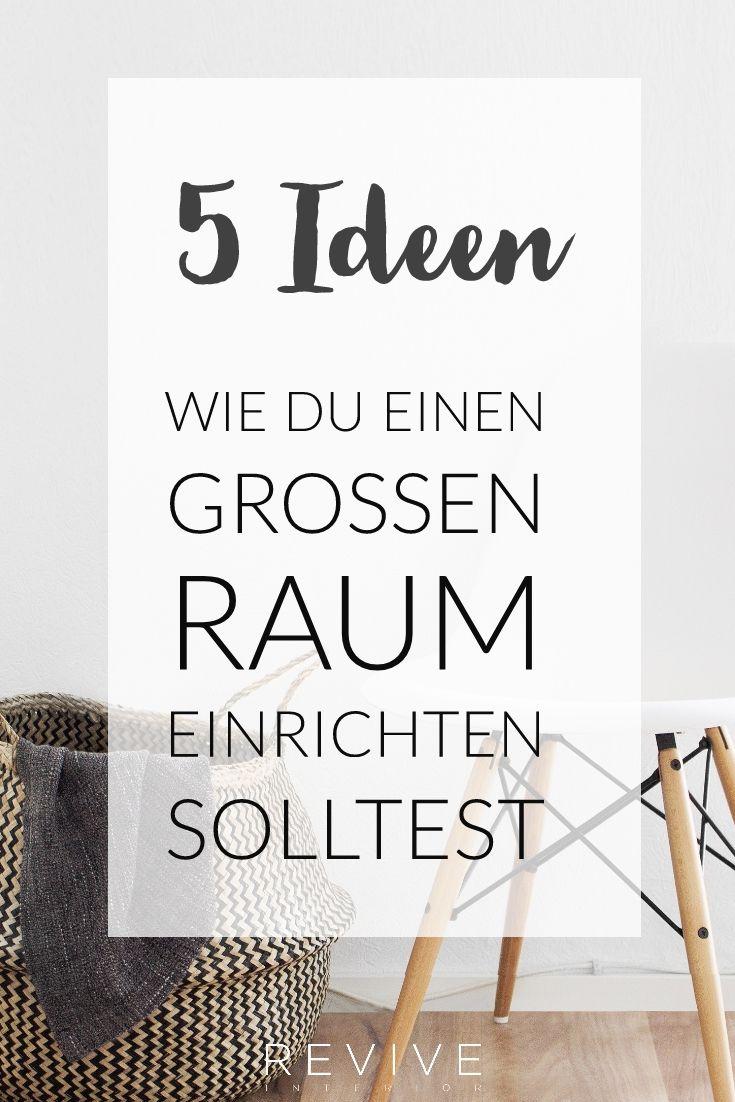 5 gro artige einrichtungsideen f r gro e r ume wohnen. Black Bedroom Furniture Sets. Home Design Ideas