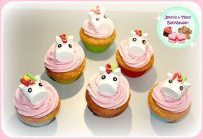 Einhorncupcakes (Zitronenmuffins) / Unicorn Cupcakes