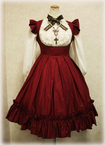Jsk: Victorian Maiden Blouse: Innocent World Necklace: Schwarz Schmetterling