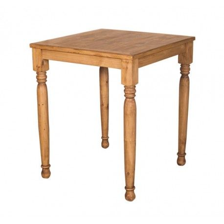 Square Rustic Pine Dining Tables