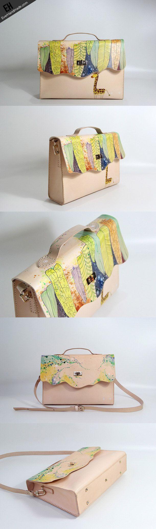 Handmade vintage custom leather large Satchel bag shoulder bag /handba | EverHandmade
