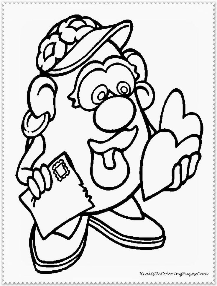 cartoon valentines day coloring pages - photo#15