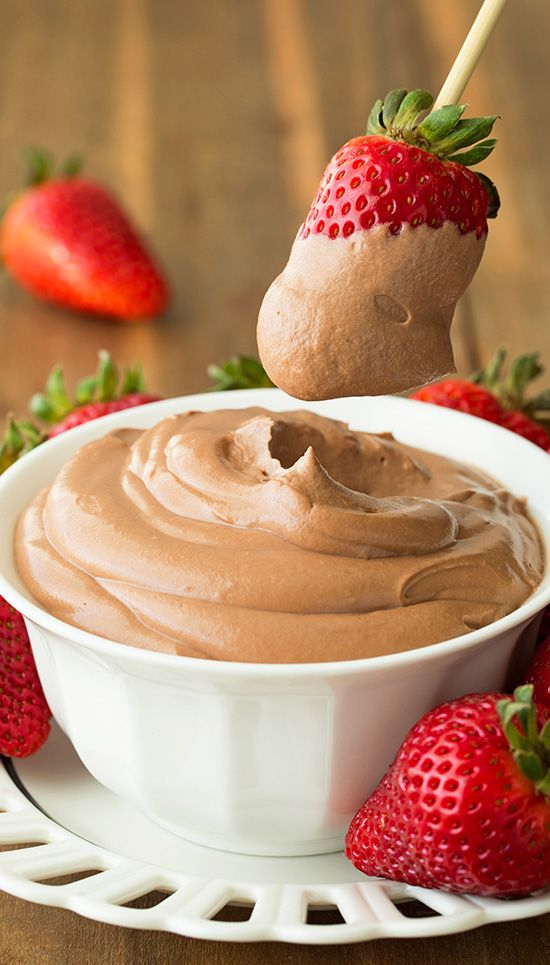 Nutella Cheesecake Dip - this stuff is AMAZING!! So good you'll want to just eat it by the spoonful.