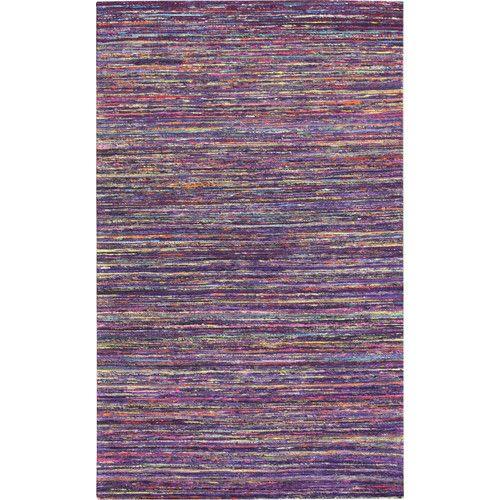 $289 silk 5/8 Noble House Rainbow Dark Purple Area Rug