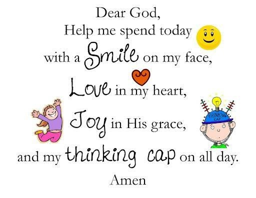The boys say this prayer in the car every morning before school. <3 <3