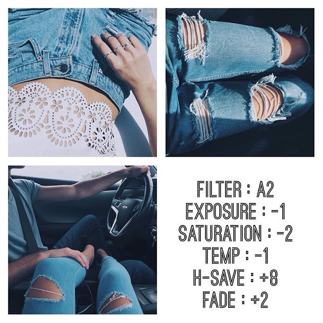 blue filter looks best on jeans comment below if you have any questions!
