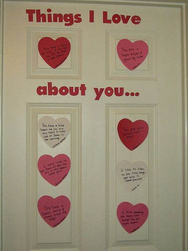 Things I love about you.... Such a cute idea!