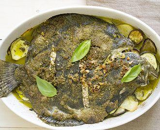 Recetas de patatas al horno con perejil y vinagre - R myTaste.es RODABALLO AL HORNO con refrito