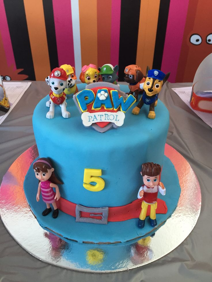 Paw Patrol cake for Lucas' 5th birthday- image only