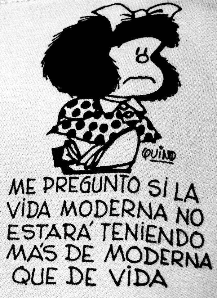 Pasaba horas leyendo Mafalda, una y otra vez.
