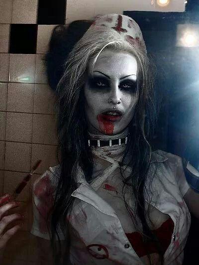 Zombie nurse! Need to repurpose my old sexy nurse costume!