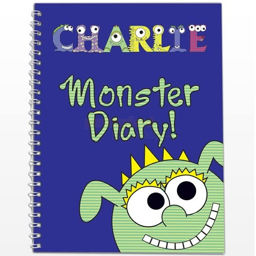Personalised Diary Little Monster   from Personalised Gifts Shop - ONLY £7.95
