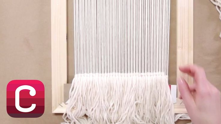 Weaving for Beginners Part 3: Start Weaving and Add Fringe with Annabel ...