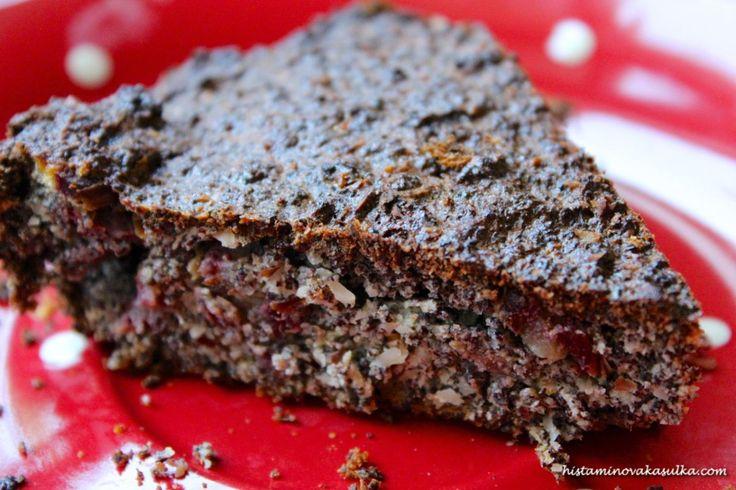 """Vymazlený Makový koláč bez mouky podle blogu """"Delicious"""""""