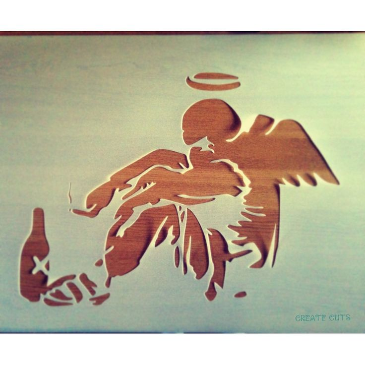 Banksy Fallen angel reusable stencil
