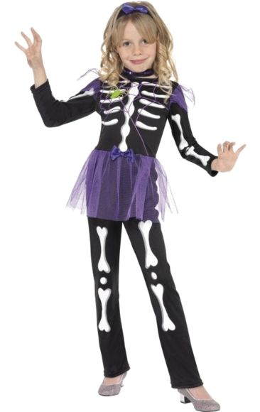 Child Skellie Punk Girl Costume | Jokers Masquerade