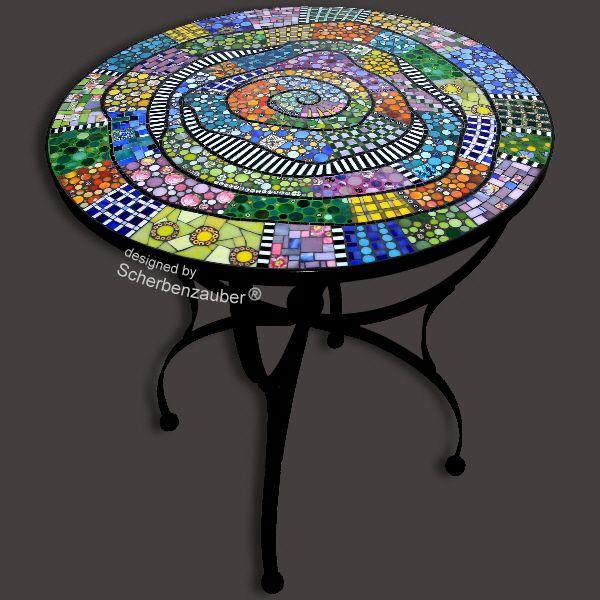 Tisch Valparaiso Gartentisch Mosaik Mosaik Mosaik Diy