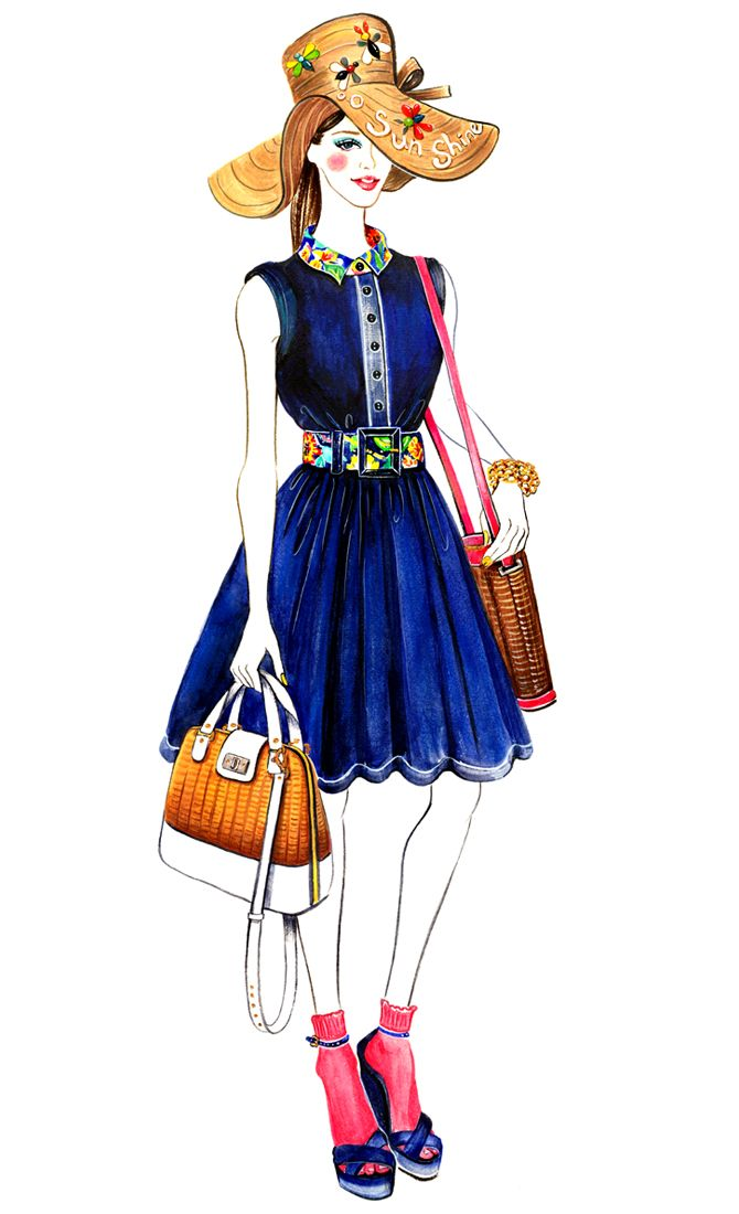 Kate Spade Spring 2013 RTW - Sunny Gu #fashion #illustration #fashionillustration