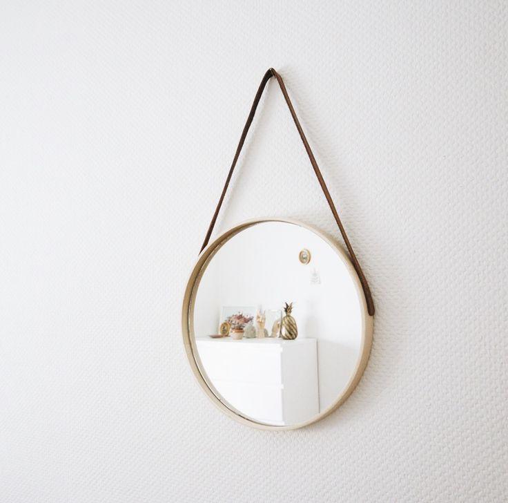 Les 25 meilleures id es de la cat gorie miroir suspendu for Miroir rond entree