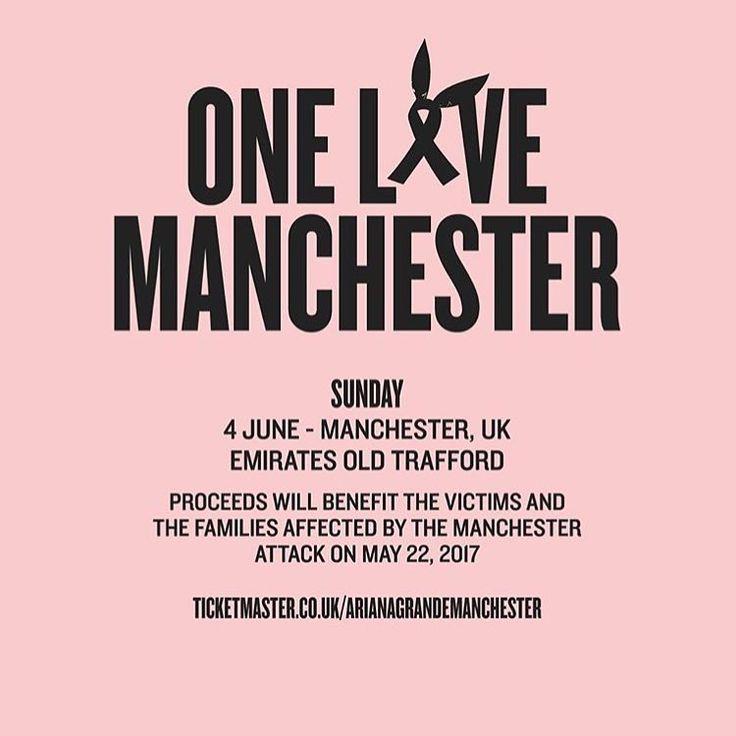 A @arianagrande acaba de divulgar a data do show que fará para arrecadar fundos para os afetados pela tragédia de Manchester! Será neste domingo, 4 de junho! Em Manchester!