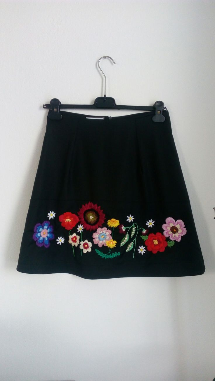 Vivien Mihalish - comming soon, new collection Vyshivana, skirt with folk esence with embroidered flowers, handmade fashion