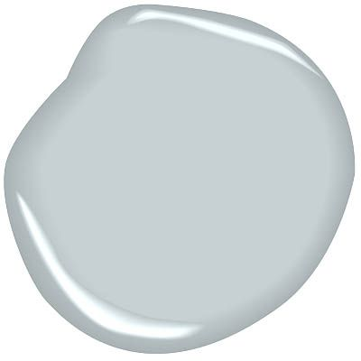 """palace pearl CW-650 benjamin moore: Called """"pearl"""" in 18th century painting manuals, this pale blue is created by mixing white, black and Prussian blue pigments."""