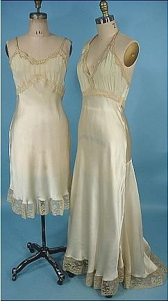1938 Franklin Simon Trousseaux Slips One Short, One Long and Slightly Trained