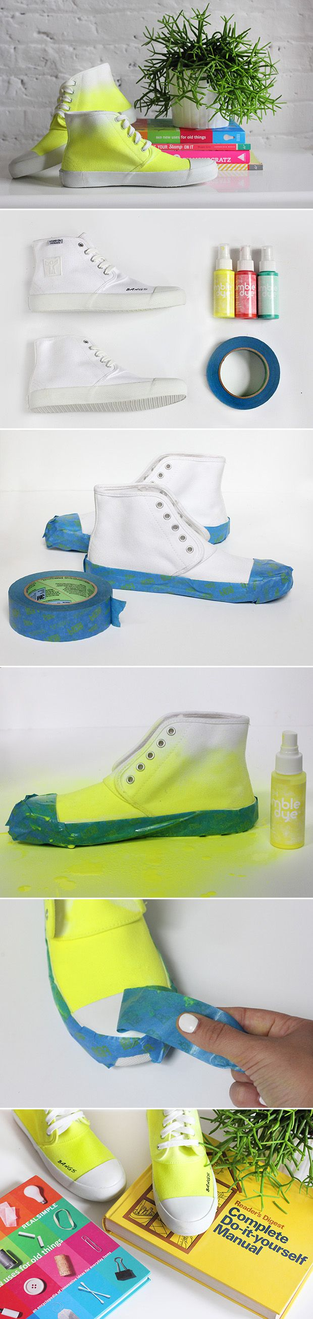 DIY your very own ombre neon sneakers! Your tween will love this DIY project and will want to show off his or her new kicks all summer long.