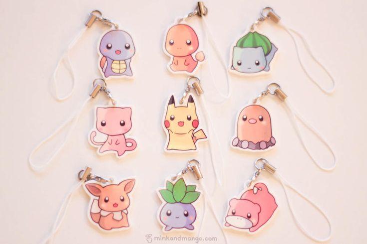 Pokemon-Charms von minkandmango auf Etsy