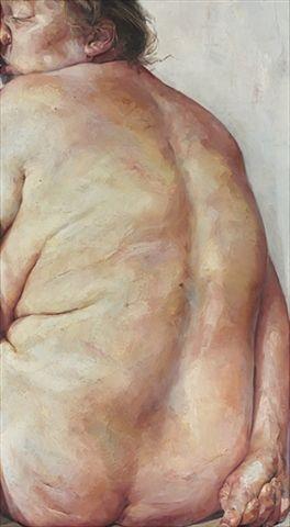 Jenny Saville looks like Lucian Freud's nudes!