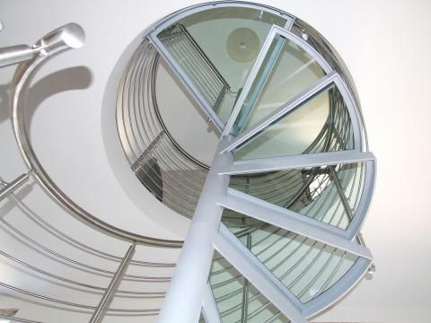 glass spiral staircase 2