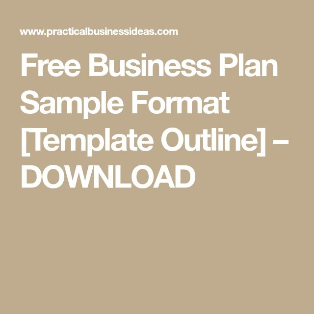 The  Best Business Plan Format Ideas On   Business