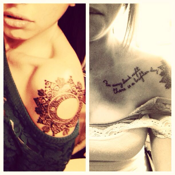"""Sun And Moon Quotes: My Tattoo. A Tribal Sun/moon & The Quote """"for Every Dark"""