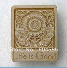 Nieuwe Leven is Goede zon bloem Craft Art Siliconen Zeep mal Craft Mallen DIY Handgemaakte zeep mallen(China)
