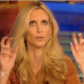 """""""Ann Coulter Tries To Tell Whoopi Goldberg How Black People Feel About Things. It Does Not Go Well."""" 1) her voice is annoying 2)Barbara Walters never ages"""