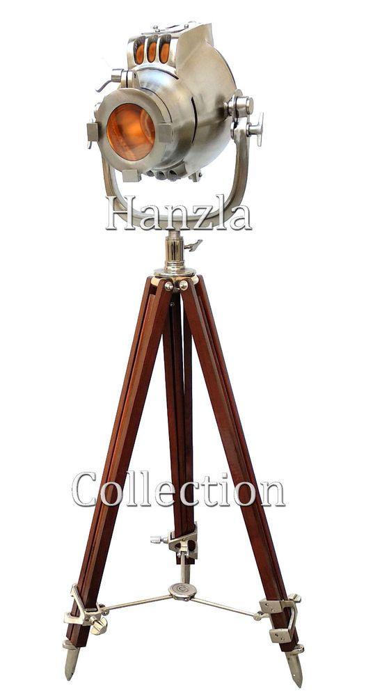 Antiques Art Deco Vintage Floor Lamp Search Light Art Deco Modern Work Task Industrial Lighting