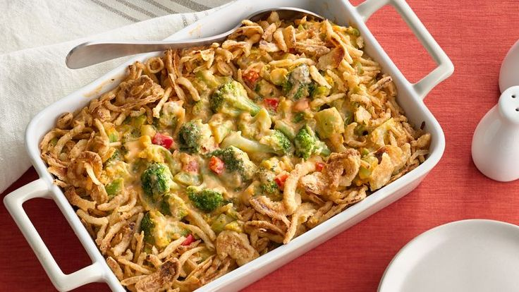 Voted Best Supporting Side of 2008! Have a crowd to feed? Arm yourself with five easy ingredients, including veggies. A few minutes of prep, and you'll have a delicious veggie casserole in the oven.