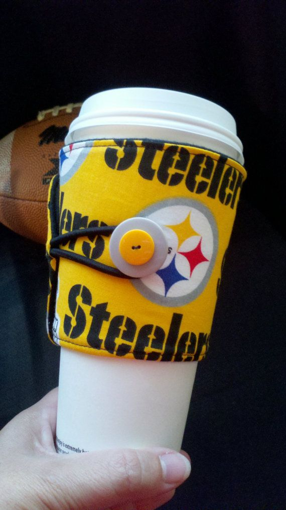 Pittsburgh Steelers Cup Cozy by ALittleXtraSomething on Etsy, $7.99