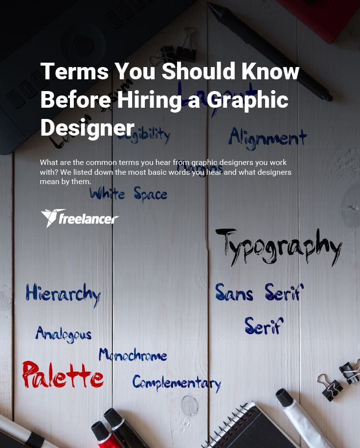 Terms You Should Know Before Hiring a Graphic Designer #freelancing #business #startups #entrepreneurship #graphicdesign #design