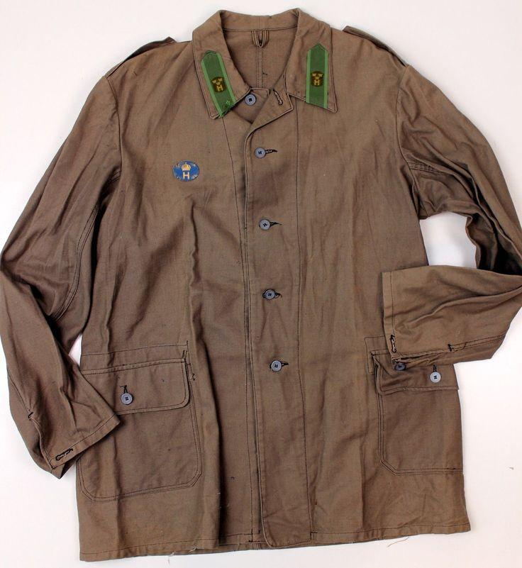 WW2 SWEDISH ARMY M39 FIELD JACKET with BADGES | eBay